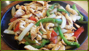 Chicken Fajitas, Chicken Fajitas sizziling