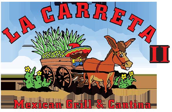 La Carreta Logo, Donkey pullling a wagon man steering