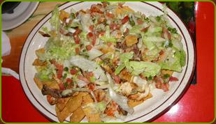nachos fajitas, nachos fajitas plate